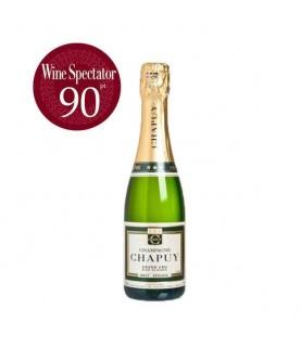 Chapuy Brut Reserve, Blanc de Blancs, Grand Cru (Half) 375ml France, Champagne